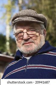 Senior man wearing flat cap