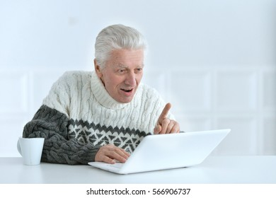 senior man working at office