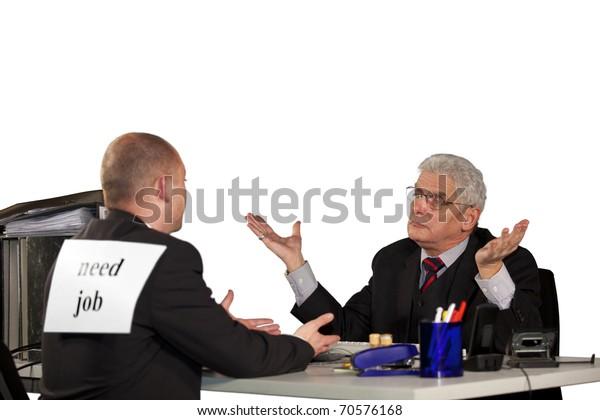 senior manager rejecting job applicant