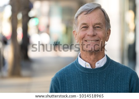 Senior mature man smile face portrait