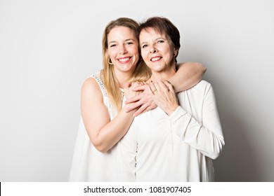 Senior mother with 40 years old daughter