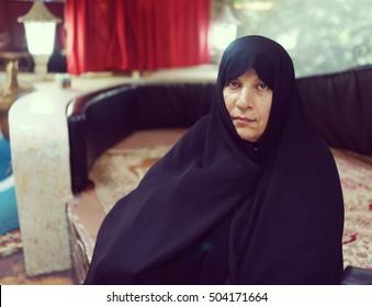 Senior Muslim woman