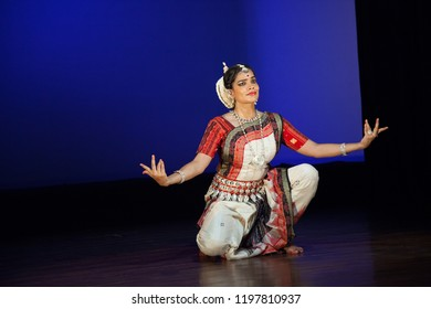 A senior Odissi dancer looks enchanted as she sees the lord at the Divyashetram event on October 3,2018 in Bengaluru,India