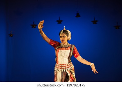 A senior Odissi dancer looks at the rustling trees at the Divyashetram event on October 3,2018 in Bengaluru,India