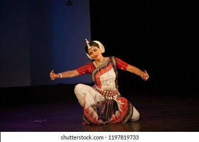 A senior Odissi dancer looks at the young child at the Divyashetram event on October 3,2018 in Bengaluru,India