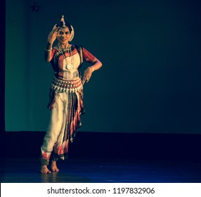 A senior Odissi dancer sees a mysterious figure in the forest at the Divyashetram event on October 3,2018 in Bengaluru,India