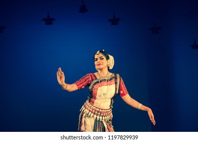 A senior Odissi dancer tells child to stop at the Divyashetram event on October 3,2018 in Bengaluru,India