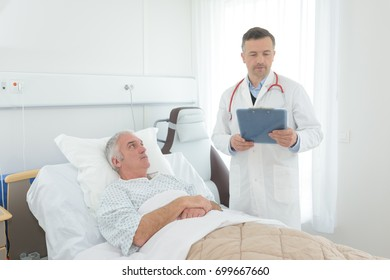 senior patient in bed