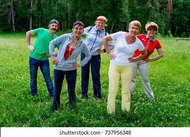 Senior people in a park