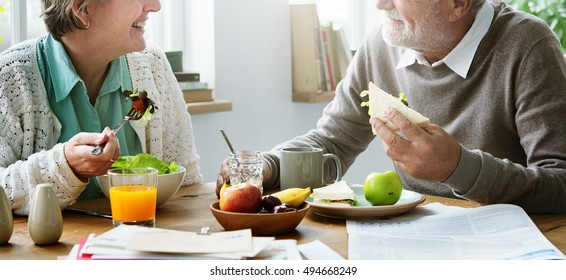Senior Retirement Breakfast Meal Food Dining Concept