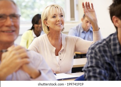 Senior student in class