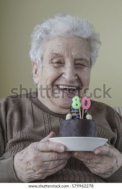 Enjoyable Senior Woman Birthday Cake Stock Image Download Now Personalised Birthday Cards Bromeletsinfo