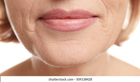 Senior woman face, closeup