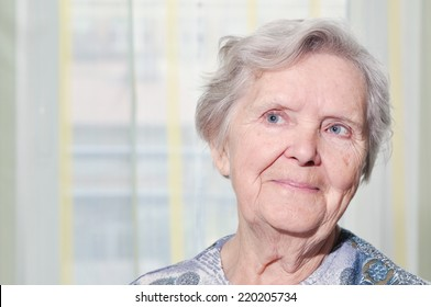Senior woman in home.