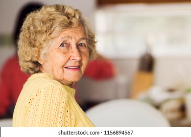 Senior woman in the kitchen