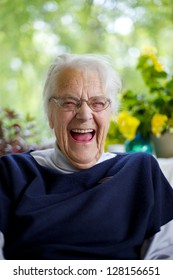 Senior Woman Laughing