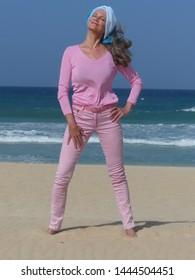 Senior Woman at Seaside in Summer