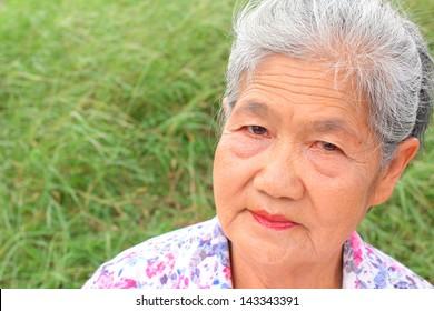 Senior woman smile