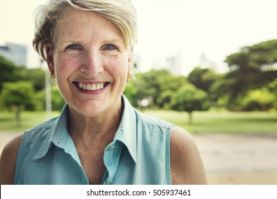 Senior Woman Smiling Lifestyle Happiness Concept