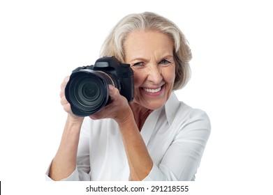 Mature Lady Photographer Images Stock Photos Vectors Shutterstock