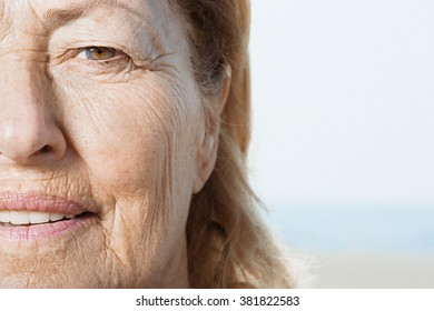 Senior woman's face