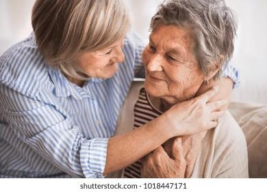 Senior women at home.