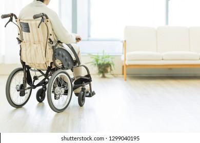 Senior women in wheelchairs