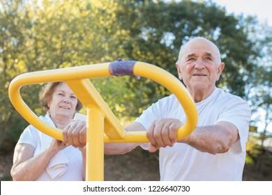 seniors doing outdoor sports