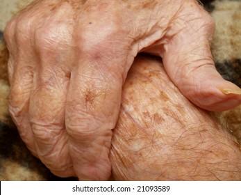 Senior's hands