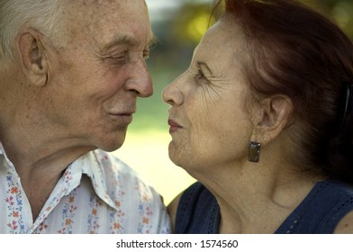 seniors in love(focus point on the noses,special photo f/x)