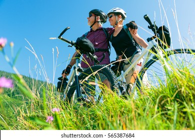 Seniors With Mountain Bikes
