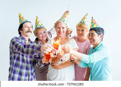 Seniors on a birthday party