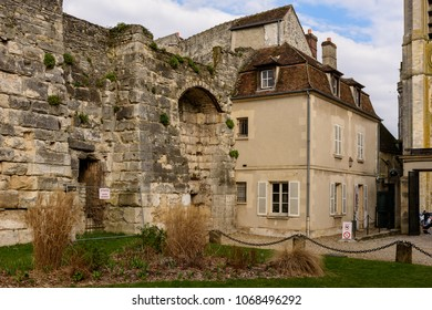 SENLIS, FRANCE - APRIL 1, 2018: Royal castle complex in Senlis, Medieval town in the Oise department,  France