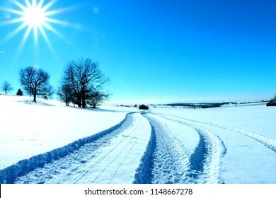 Senohrad Slovakia zima
