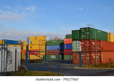 Senov, Czech Republic / Moravia - January 06.2018: Containers