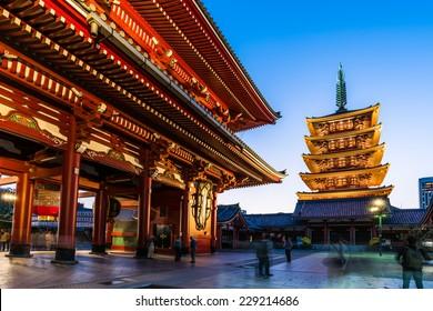 Senso-ji Temple in Asakusa, Japan