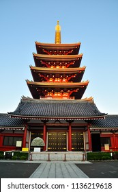Sensoji temple at Asakusa is an one of famous attractive landmark building in Tokyo that are Buddhist religion location in Japanese style