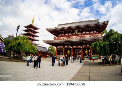 Sensoji Temple or Asakusa TempleTokyo, Japan. Sep 22, 2018.