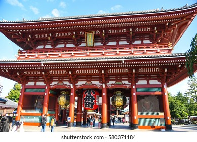 Senso-ji temple : October 16, 2016 in Asakusa, Tokyo, Japan.This temple is very popular in Tokyo.