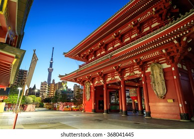 Sensoji Temple in Tokyo, Japan. The temple is the oldest and the most popular destination in Tokyo.