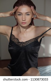 Sensual and beautiful  woman in bedroom