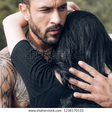 Sensual couple kiss I