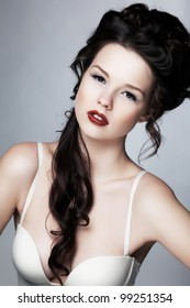 Sensual lovely professional model female. Healthcare and skincare, beauty, fashion