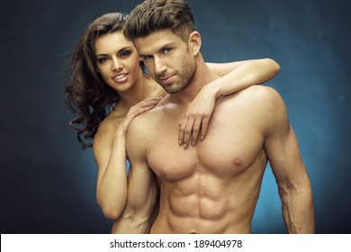 Sensual photo of a young couple