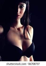 Sensual portrait in lingerie