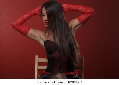 sensual woman cabaret style