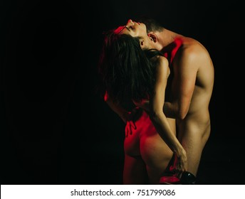 Sensual woman in underwear with young lover, passionate couple foreplay closeup. Fashion photo. Nude man and woman posing studio. Orgasm. Sensual couple. Sexy couple. Sexy photo. Adult. Hot girl. Sex.