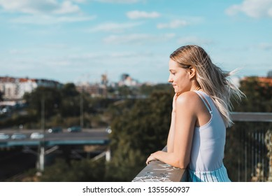 sensual young woman with blond hairs