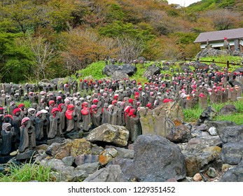 Sentai Jizo (Thousand statues of Jizo Bosatsu) of Sessyouseki park in Nasu Tochigi Japan