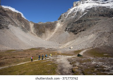 Sentinel Pass Hike, Lake Louise Banff National Park, Alberta, Canada Picture taken on September 26, 2015
